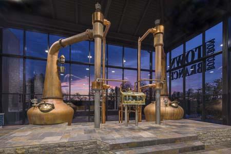 copper pot stills used for distillation